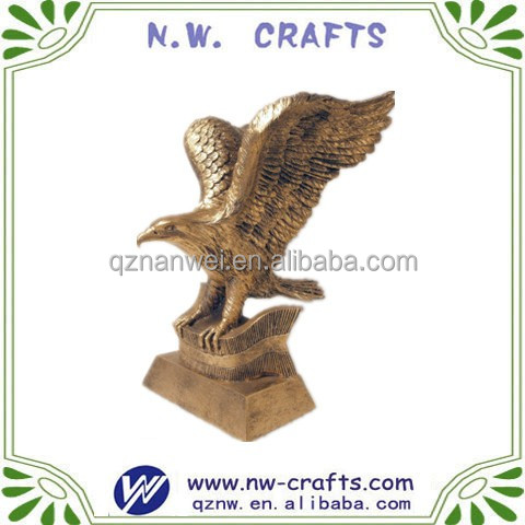 Eagle Gifts Galore/Gold Color Eagle Gift Statues