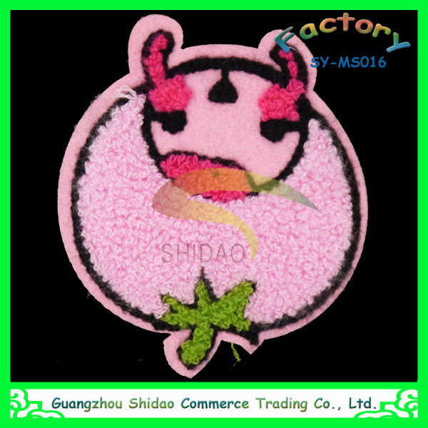 Sheep design chenille embroidery patch