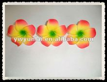 mixed Plumeria flower Hawaiian Foam Frangipani Flower with hair clip