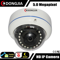 DONGJIA DJ-IPC-HD8532TD Vandalproof Small Motion Detection Audio Network 5MP IP Camera Domo