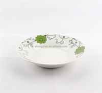 Wholesale porcelain plate ceramic white dinner plate hand made Ceramic Plates