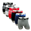 Wholesale Multi Colors MEN Logo Elastic Seamless Underwear Stripe Man Boxers Briefs