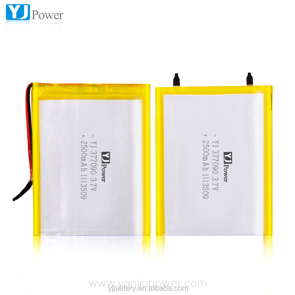 YJ377090 high capacity lithium polymer 3.7v 2100mah li-ion polymer battery