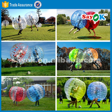 inflatable human bubble ball adult suit for sale, bubble bump football
