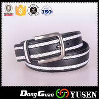 Custom Hand Tooled Leather Belts With White stripe Line
