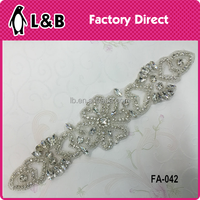 garment bridal applique Rhinestone wedding patches