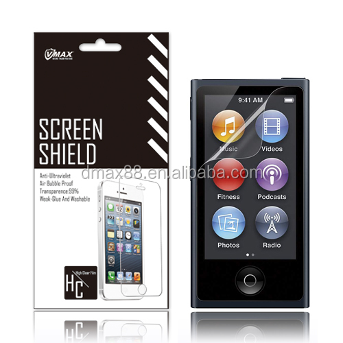 High Clear Cell Phone screen protector films for iPod nano 7 oem/odm (High Clear)