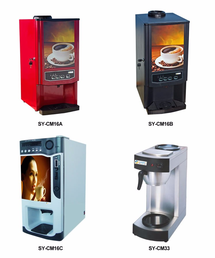 Good Taste And Frech Coffee Maker With 2 Head For Shop (sunrry Sy-cm12a) - Buy Coffee Machine ...