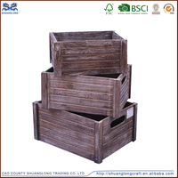 2015 vintage wooden crates wholesale cheap wooden fruite /wine / vegetables crates for sale