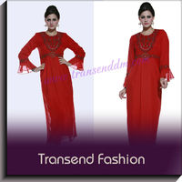 Beaded Trumpet Sleeves Idmonia Gamis Abaya