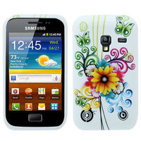 2013 Retro flower Pattern TPU Protection Case for Samsung Galaxy Ace Plus S7500