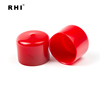 19.05mm vinyl end caps for steel bar , 3/4 inch red plastic steel tubing end caps