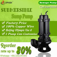 basement submersible waste water pump 1hp solid waste pump for sale