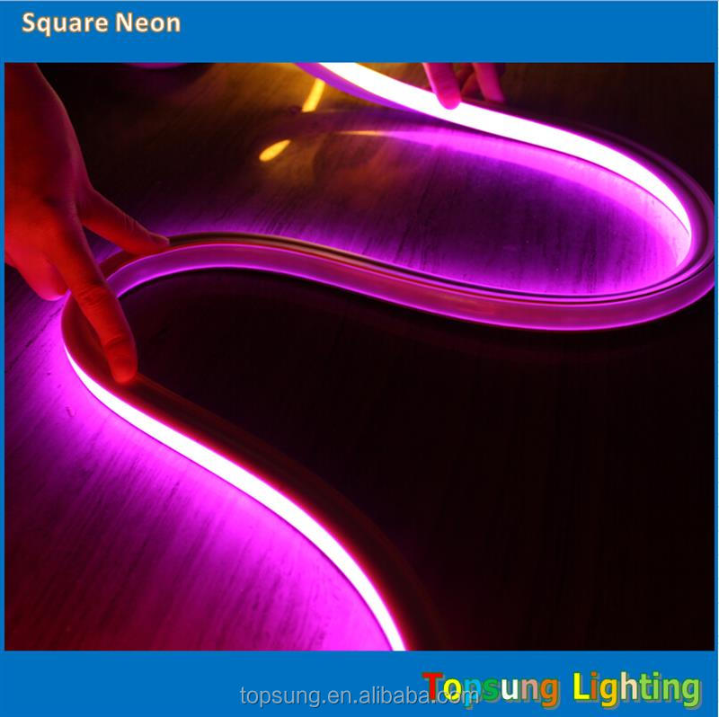hot sale 230v pink square SMD2835 Slim Led neon flex for outdoor