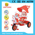 2017 new and popular children tricycle with lovely hard ear rabbit head kids tricycle