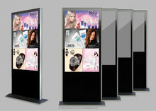 EKAA 55inch LCD stand indoor outdoor digital signage for supporting multiple video formats