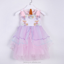 In Stock New design children baby boutique party fancy tulle girls unicorn dresses