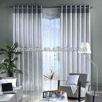 100% polyester Decorative New Design Eyelet Curtain