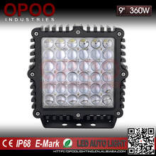 Super bright led spotlights for trucks, high power 360w 9inch 12v led spotlights for trucks