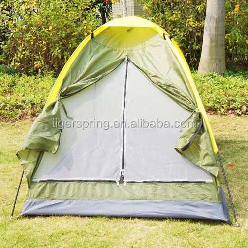 Single layer Polyester ultra light tent for 2 persons