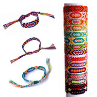 Hot Sale Wholesale Handmade Multi-Colour promotion gift Colorful Braided girls Charm Friendship Bracelet