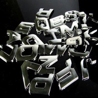 Chrome Emblem Badge 3D Letter Sticker Car Chrome Body Sticker Tattoo
