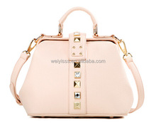 Multicolor high quality leather new hand bag women 2014