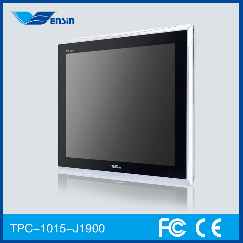 LED Touch Screen 15 Inch TPC-1015-E3845/J1900 Fanless Quad Core Industrial PC