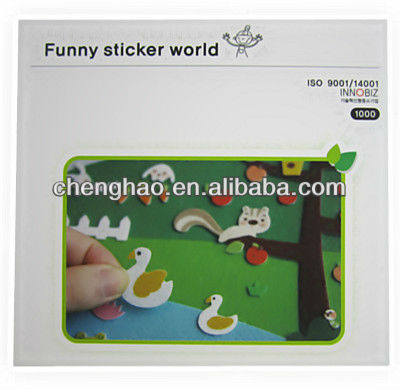 adhesive felt stickers animals die cut shapes