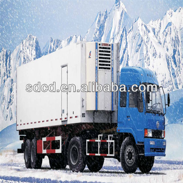 3 axles refrigerator van trailer,icecream truck,Foton van truck