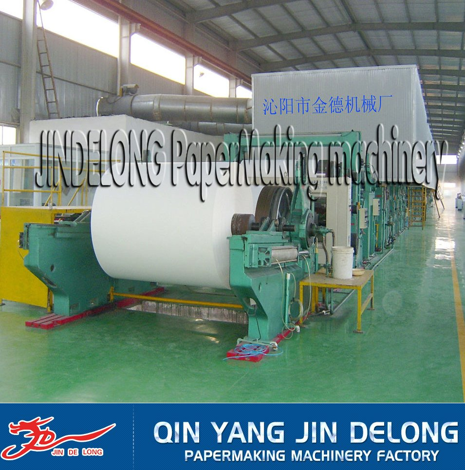 1575mm 15T/D a4 Copy Paper Making Machine Paper Recycling Making Machinery Price