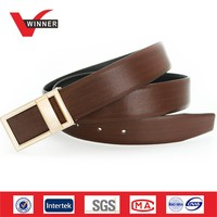 Fashion golden buckle Italian leather belts