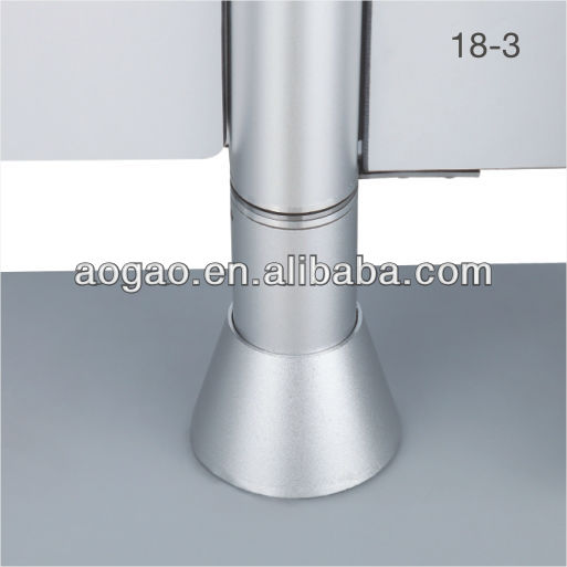 newest fashion toilet partition aluminum support leg