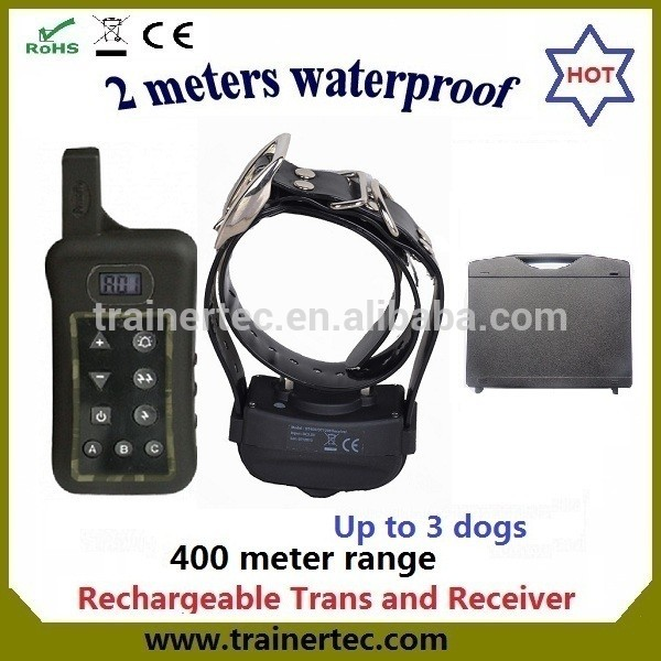Multi-dog system waterproof remote control dog training collar with 400Meter