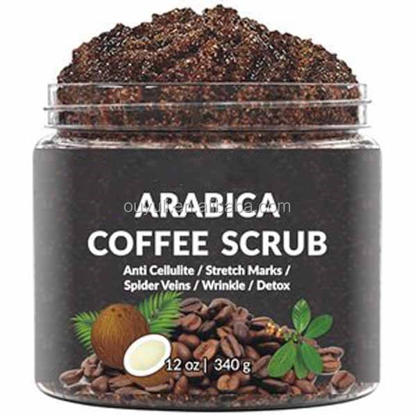 100% Natural Arabica Coffee Scrub with Coffee and Shea Butter