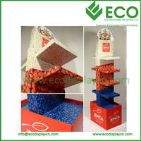 Trade Show Folding Cardboard Stand Display for Shoe Display Store Using