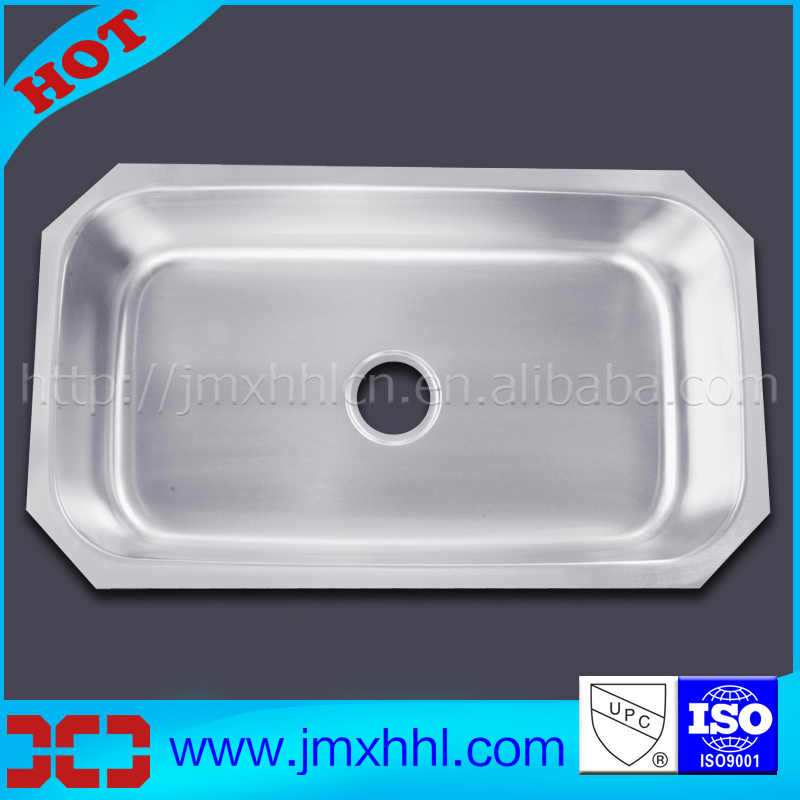 Competitve Price 1.5mm Thick Single 16 Gauge Stainless Steel Undermount Kitchen Sinks UK 8047A