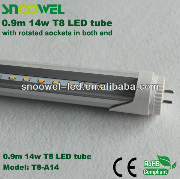 factory smd2835 85-265v t8 led tube 90cm 3 years warranty