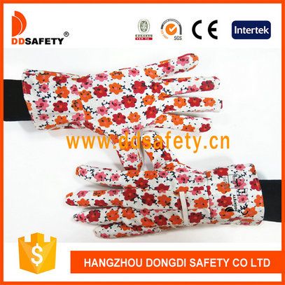 DDSAFETY 2017 Flower Design Kids Working Gloves