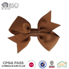 Printing ribbon bow with stainless steel metal clips for kids