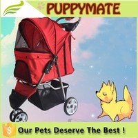 China factory pet travel trolley/dog strollers with 3 wheel