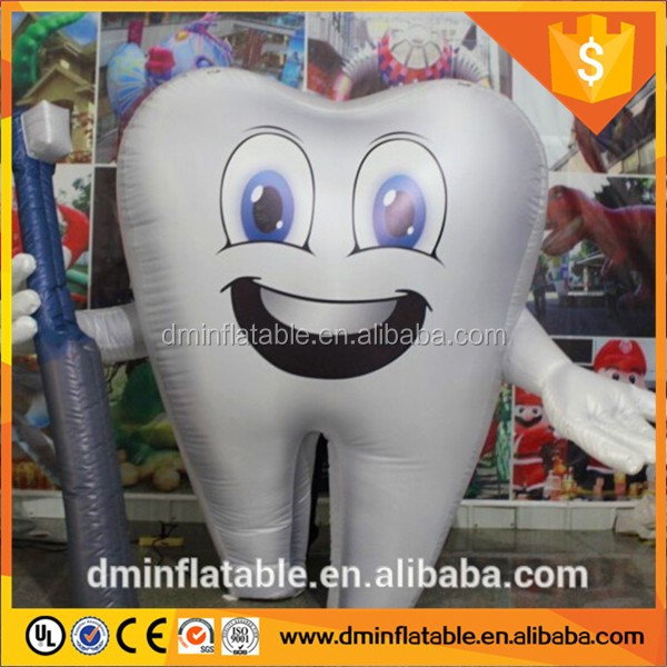 2m~10m customized inflatable tooth model/white