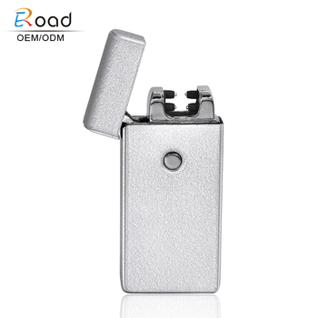 Eroad Practical USB Rechargeable Windproof Flameless Dual Arc Electric Cigar Lighter