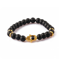 High Quality 8mm Natural Stone Bead Mixed Beads With Lion Accessories Charm Bracelet For Men