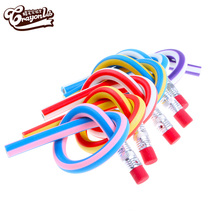 18cm HB promotional gift colorful Flexible Plastic Pvc Twisted Pencil