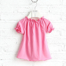 Appealing look trendy girl child baby model party dress child
