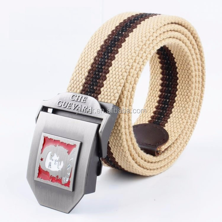 3.8cm colorful Unisex canvas/fabric/webbing belt with removable buckle