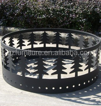 Beautiful design metal fire pit ring for steel bowl fire pit BBQ