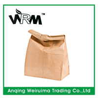 Grocery shopping brown paper gift bag wholesale