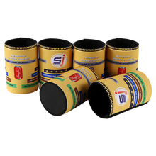 Advertising Promotional Sublimation Neoprene Stubby Can Holder Bottle Cooler With Overlock